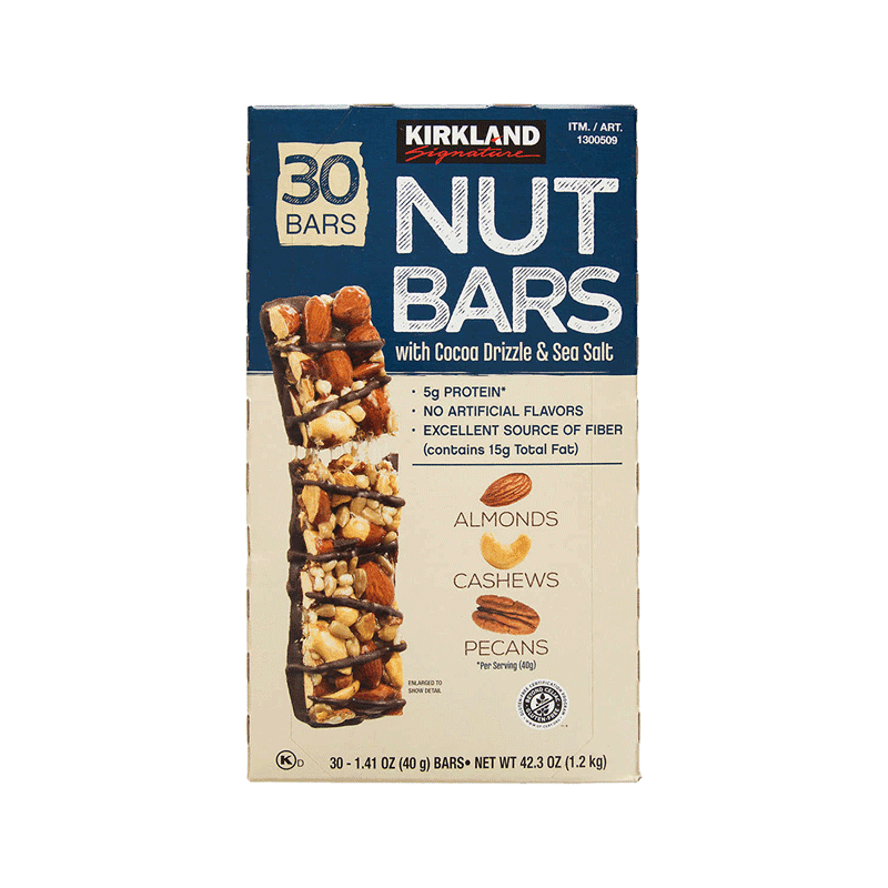 Kirkland Signature Nut Bars (30 ct. - 1.41 OZ)