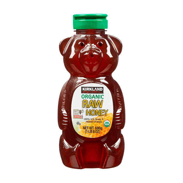 Kirkland Signature Organic Raw Honey Bear (3 ct. - 24 OZ)