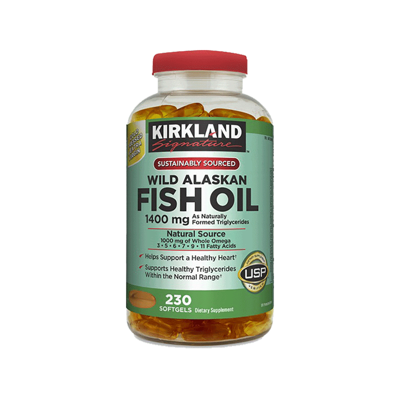 Kirkland Signature Wild Alaskan Fish Oil Softgels (1400 mg - 230 ct.)
