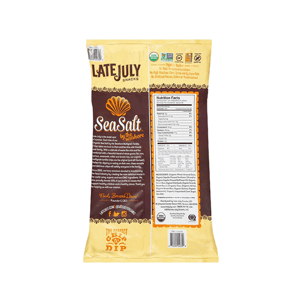 Late July Snacks Multigrain Tortilla Chips - Sea Salt (28 OZ)