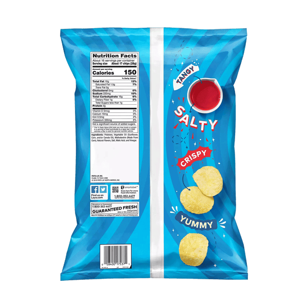 Lay's Salt and Vinegar Potato Chips (15.5 OZ)