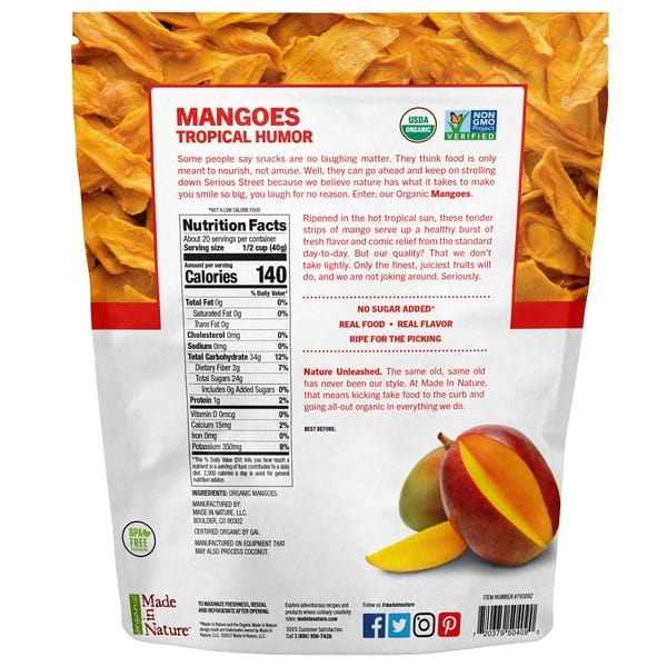 Made in Nature Organic Dried Mangoes (28 OZ)