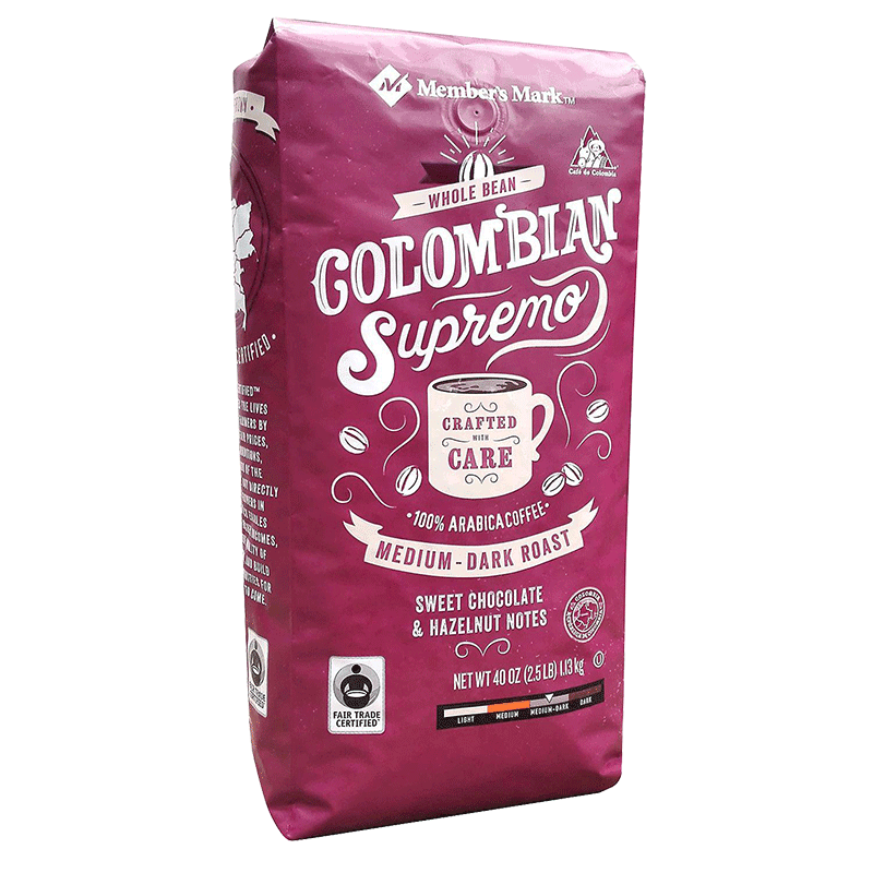 Member's Mark Colombian Supremo Whole Bean Coffee (40 OZ)