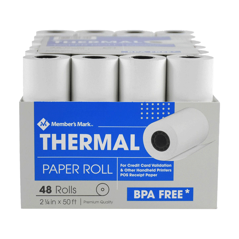 "Member's Mark Thermal Receipt Paper Rolls (2 1/4"" X 50'  -48 Rolls)"