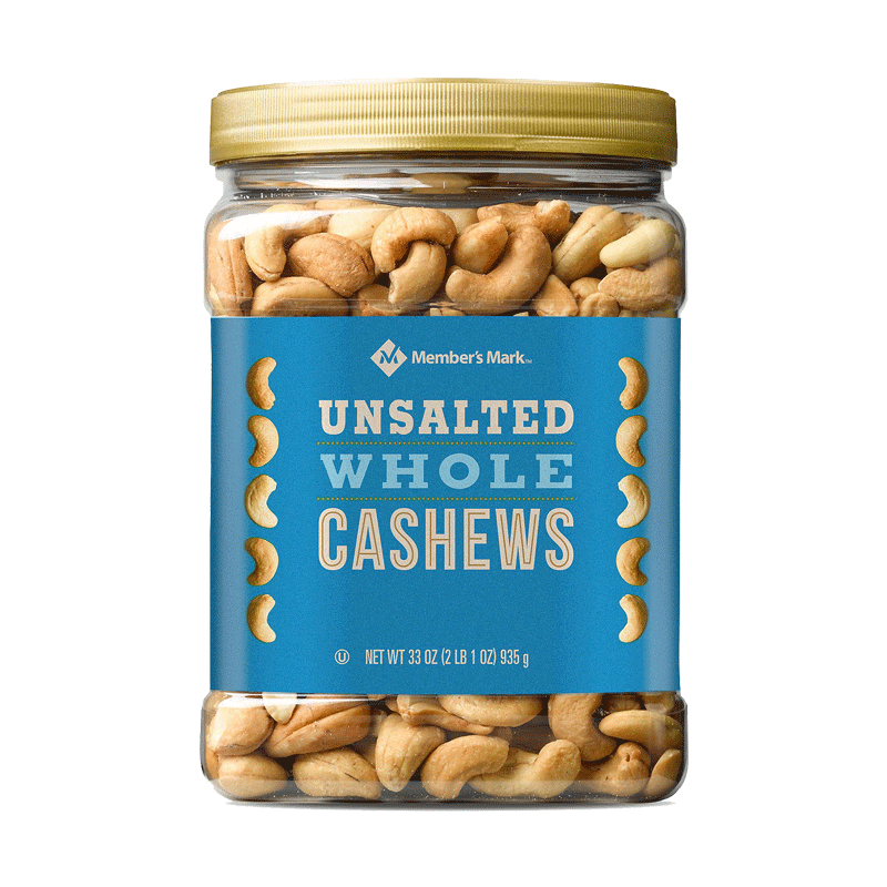 Member's Mark Unsalted Whole Cashews (33 OZ)