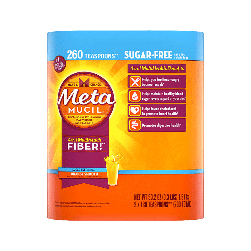 Metamucil Fiber Supplement - Orange Sugar Free (260 Doses)