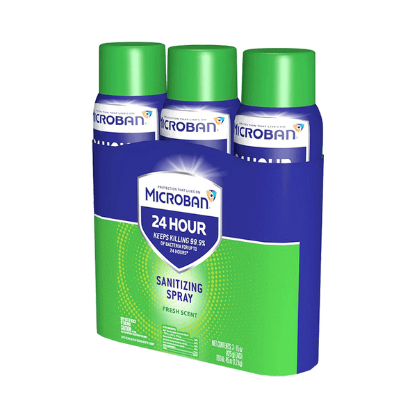Microban 24 Hour Disinfectant Sanitizing Spray (3 ct. - 15 OZ)