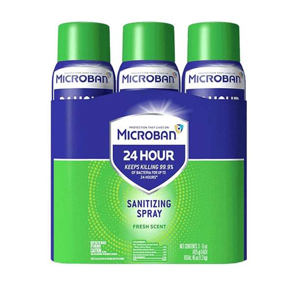 Microban 24 Hour Disinfectant Sanitizing Spray (6 ct. - 15 OZ)