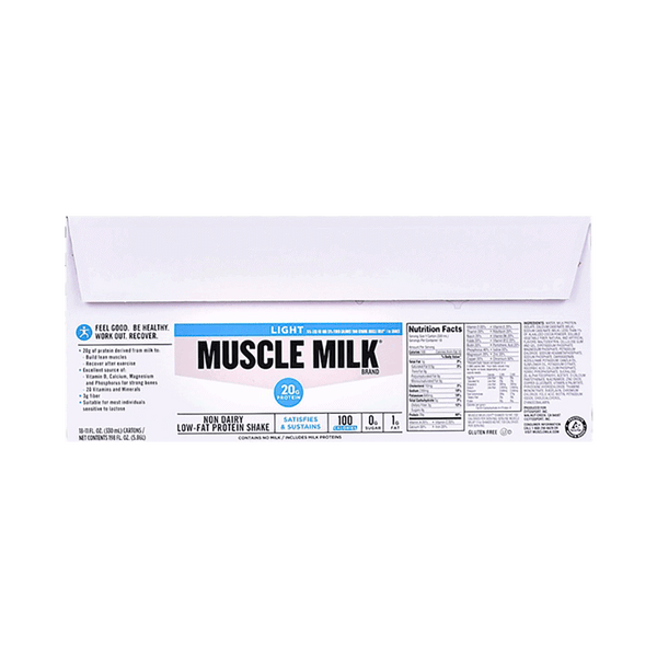 Muscle Milk Light Protein Shake Chocolate (18 PK - 11 FL. OZ)