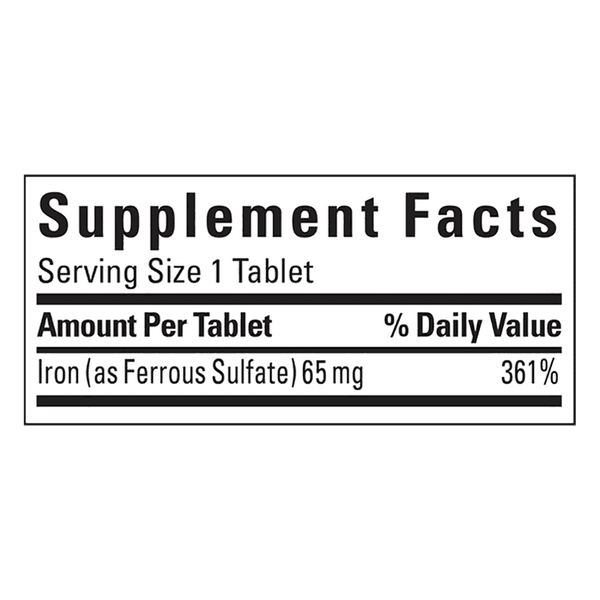 Nature Made Iron Tablets (65 mg - 365 ct.)