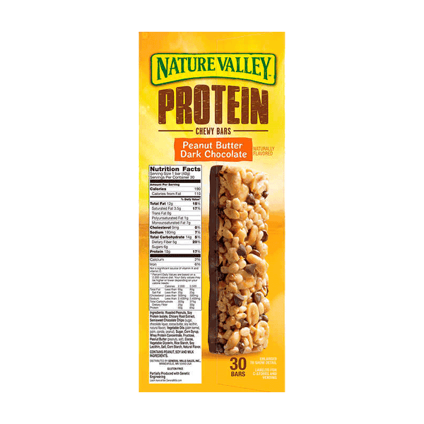 Nature Valley Peanut Butter Dark Chocolate Protein Bars (30 ct.)