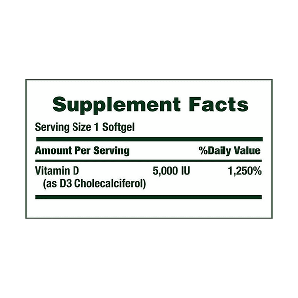 Nature's Bounty Vitamin D3 5000 IU Softgels (400 ct)