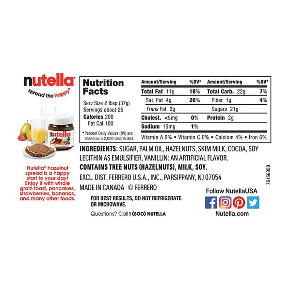 Nutella Hazelnut Spread Twin Pack (2 PK - 33.5 OZ)