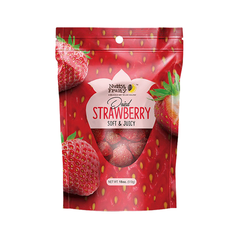Nutty & Fruity Dried Strawberries (18 OZ)
