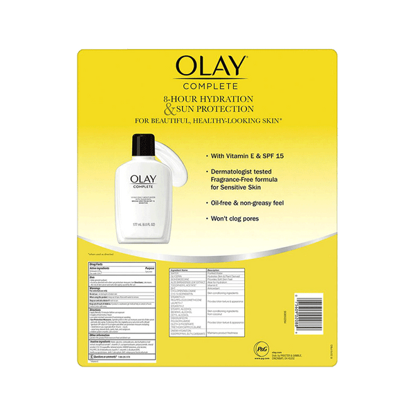 Olay Complete Lotion Moisturizer with SPF 15 Sensitive (2 PK - 12 OZ)