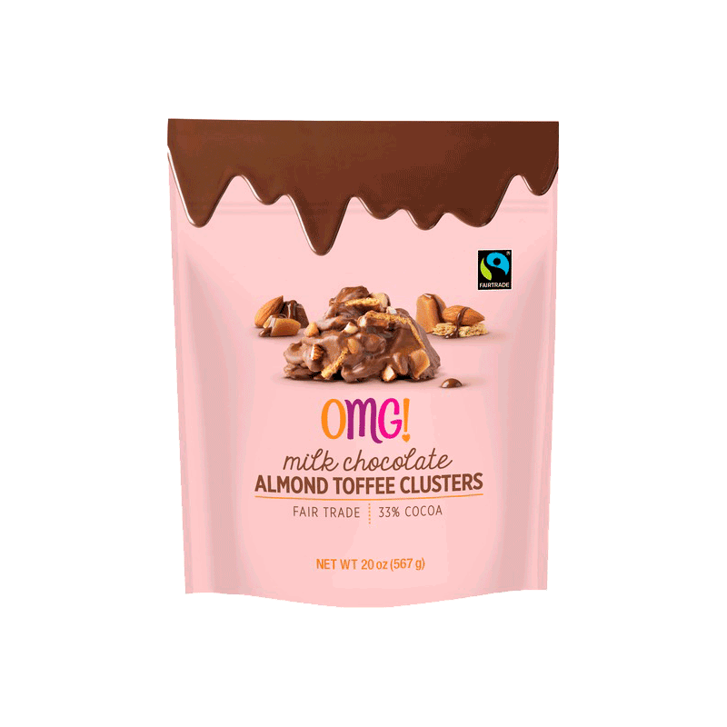 OMG! Milk Chocolate Almond Toffee Clusters (20 OZ)
