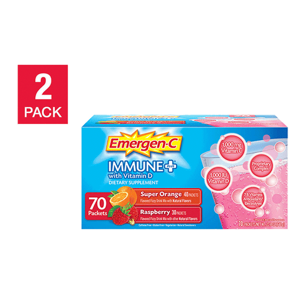Pack of 2 Emergen-C Immune Plus