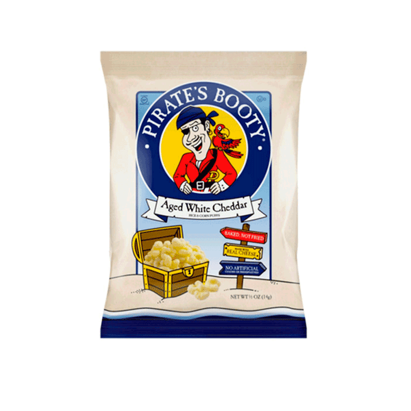 Pirate's Booty Aged White Cheddar Snack (40 ct. - 0.5 OZ)