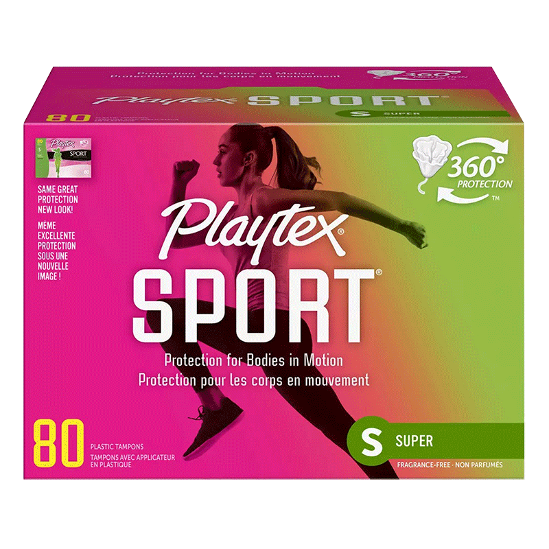 Playtex Sport Plastic Tampons - Unscented Super Absorbency (80 ct.)