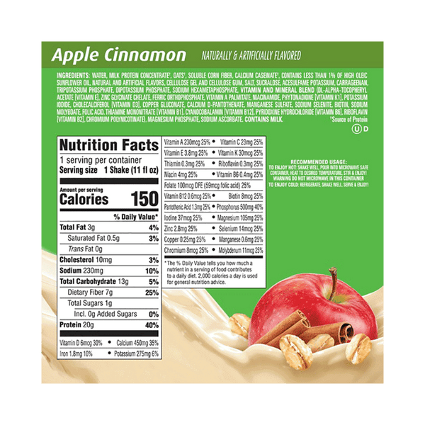 Premier Protein Shake with Oats - Apple Cinnamon (18 PK - 11 FL. OZ)