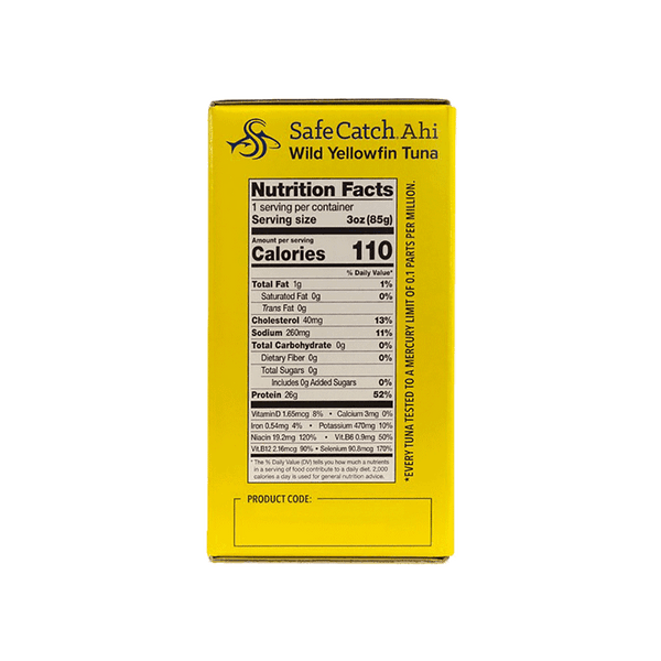 Safe Catch Yellowfin Tuna Pouches (8 ct. - 3 OZ)