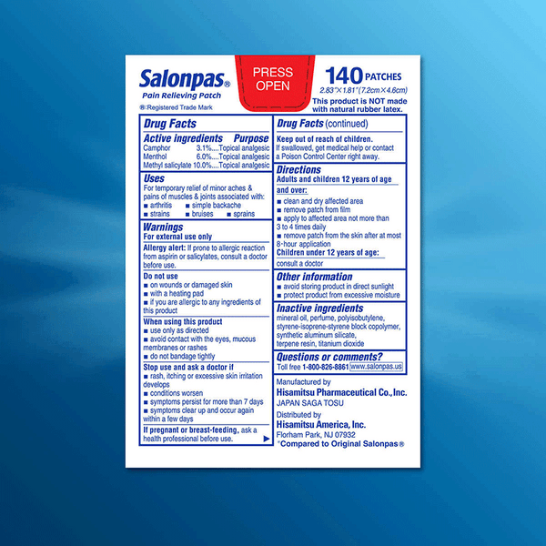Salonpas Pain Relieving Patch (140 Patches)
