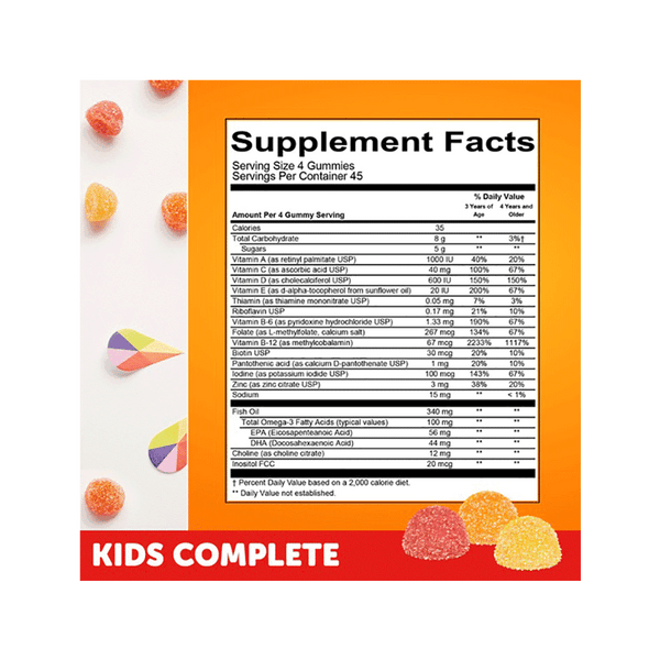 SmartyPants Kid's Complete Multivitamin Gummies (180 ct)