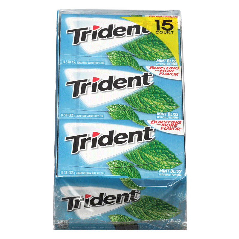 Trident Mint Bliss Sugar-Free Gum (14 ct. - 15 PK)