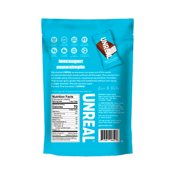 Unreal Dark Chocolate Coconut Mini Bars (15 OZ)