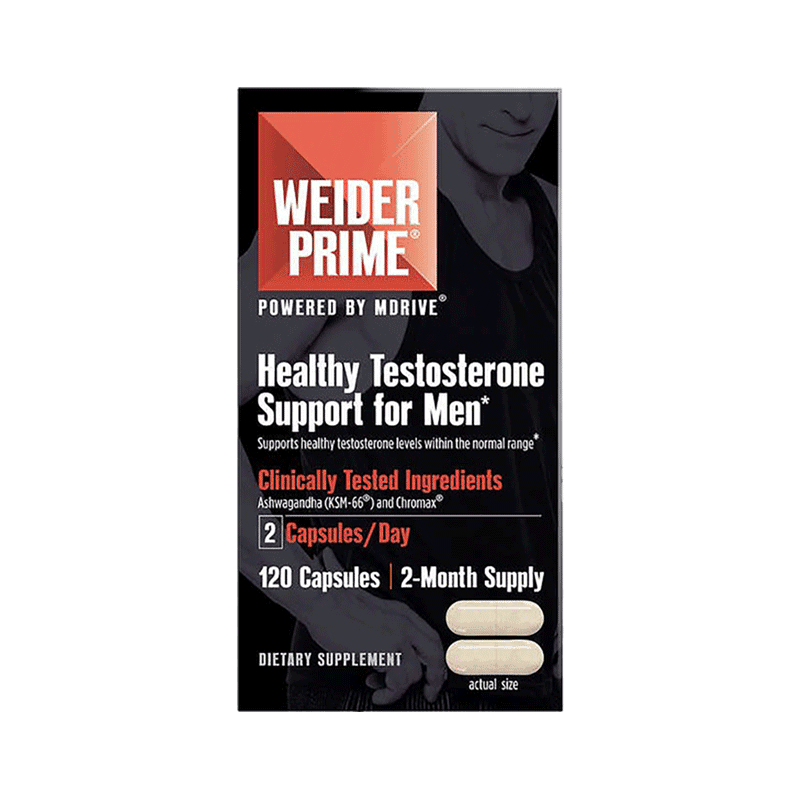 Weider Prime Testosterone Support For Men Capsules (120 ct)