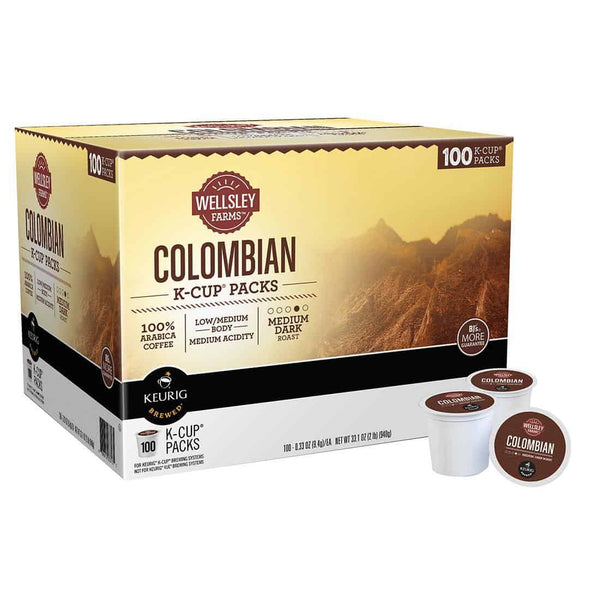 Wellsley Farms Colombian K-Cup Packs (100 ct.)