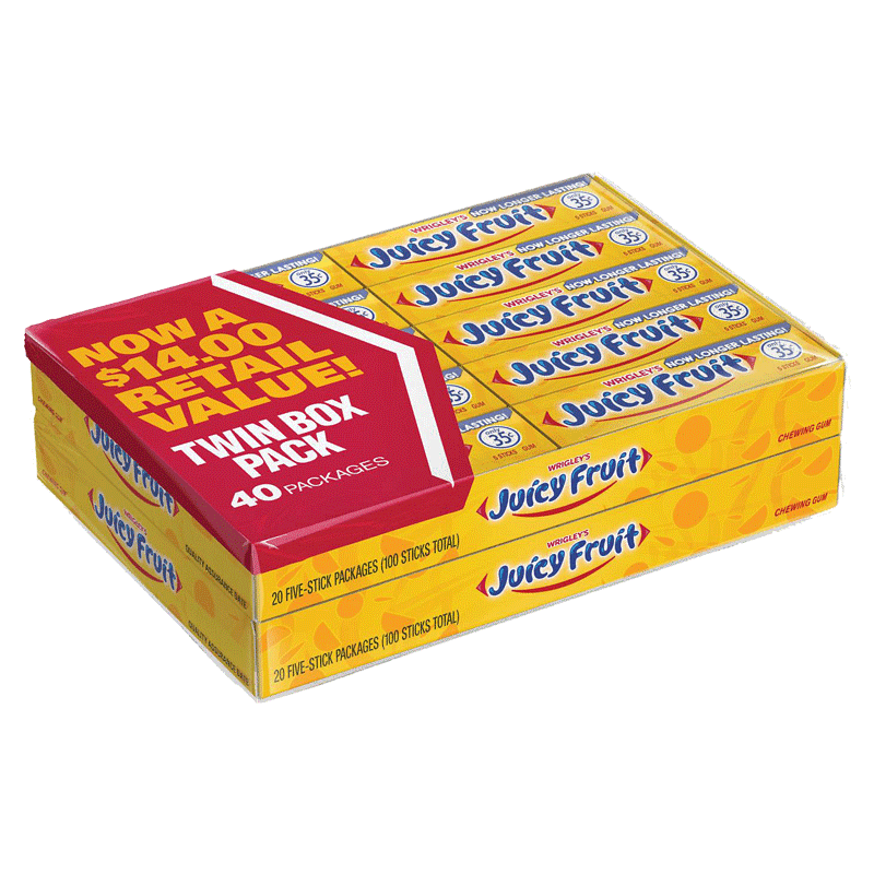 Wrigley's Juicy Fruit Gum (5 ct. - 40 PK)