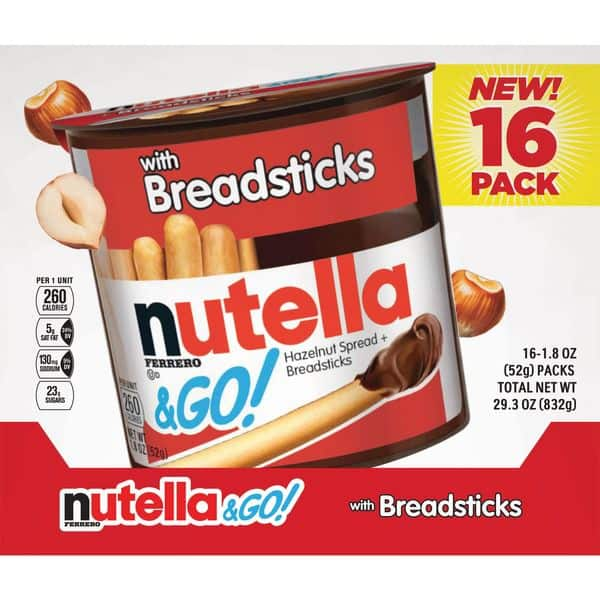 Nutella and Go Hazelnut Spread and Bread sticks (16 PK)