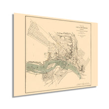 Load image into Gallery viewer, 1864 Richmond Virginia Map - Vintage Richmond Map Wall Art - Historic Map of Richmond VA Poster - Old Richmond Map - City of Richmond VA Map Print