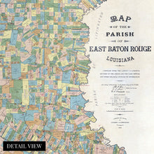 Load image into Gallery viewer, 1895 East Baton Rouge Louisiana Map Poster - Vintage Map of The Parish of East Baton Rouge LA - Old East Baton Rouge Map Wall Art - Historic Map of Baton Rouge