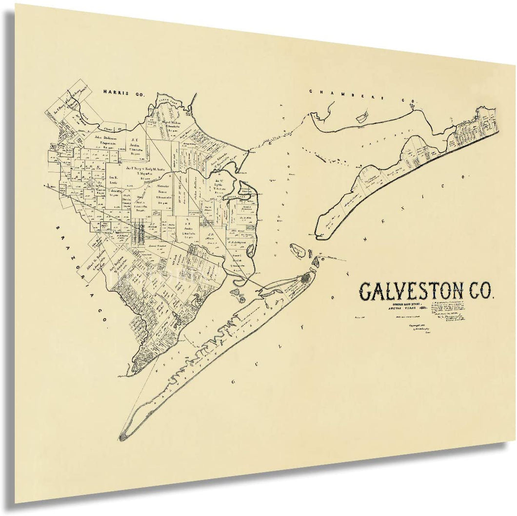 1892 Galveston County Map