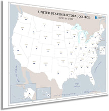 Load image into Gallery viewer, Map of United States Electoral College