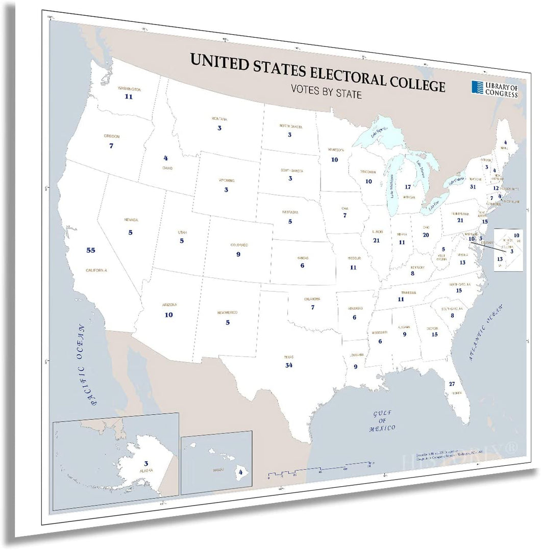 Map of United States Electoral College