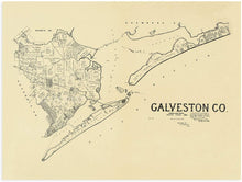 Load image into Gallery viewer, 1892 Galveston County Map