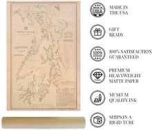 Load image into Gallery viewer, 1889 Puget Sound Map, Washington Territory