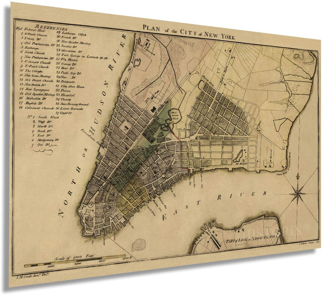 1789 Plan of the city of New York