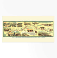 Load image into Gallery viewer, HISTORIX 1960 Map of Pony Express Route