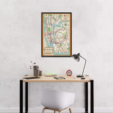 Load image into Gallery viewer, Historix 1954 New York City Subway Map Poster