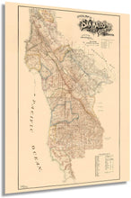 Load image into Gallery viewer, HISTORIX 1894 San Mateo County, California