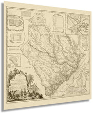 Load image into Gallery viewer, 1773 map of the province of South Carolina