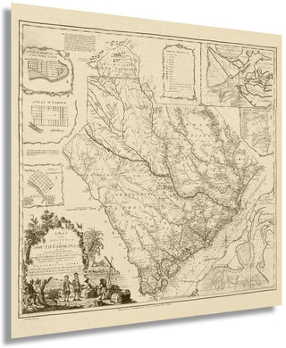 1773 map of the province of South Carolina