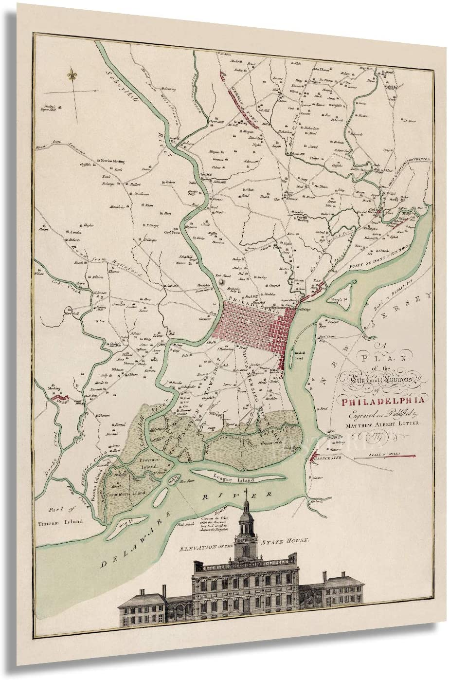 1777 A plan of the city and environs of Philadelphia