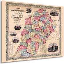 Load image into Gallery viewer, 1856 Map of Chester County, Pennsylvania