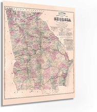 Load image into Gallery viewer, 1864 Georgia Map