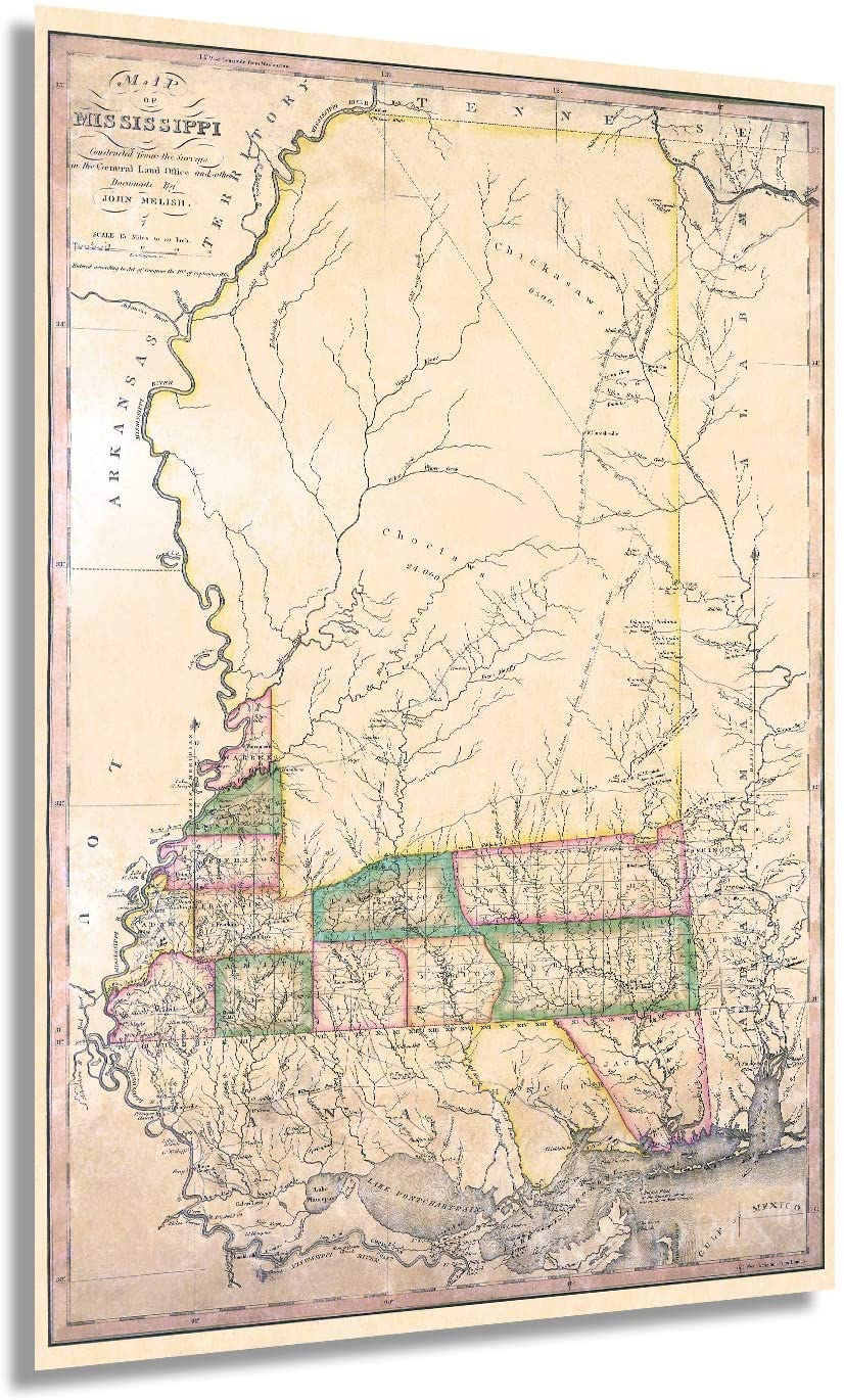 1820 Map of Mississippi